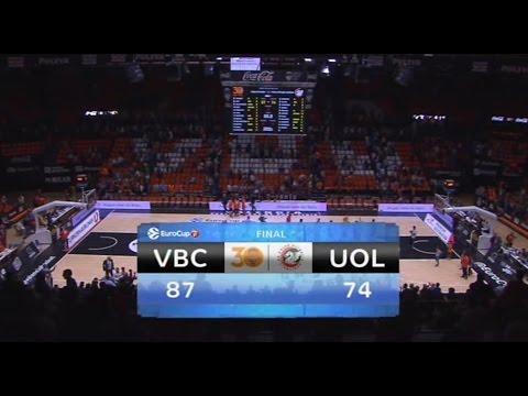 Resumen J4 7DAYS Eurocup: Valencia Basket 87 – Olimpija Ljubljana 74