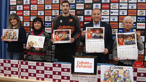 Presentado el Calendario Solidario 2017 del Valencia Basket
