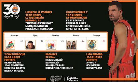 Valencia Basket te ofrece «un plan al día» del miércoles al domingo