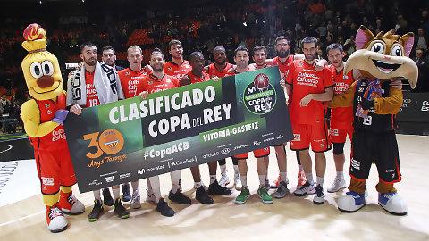 Valencia Basket logra el billete para la Copa del Rey Vitoria-Gasteiz 2017