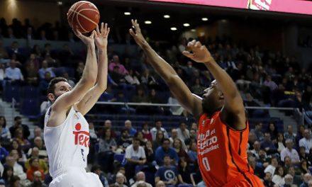 El Real Madrid defiende su liderato frente al Valencia Basket (85-71)
