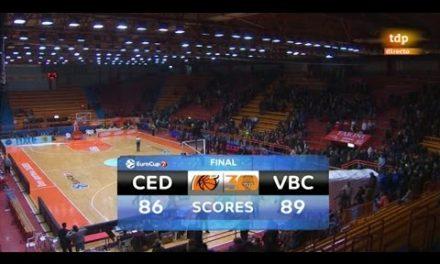 Resumen J1 Top 16 7DAYS Eurocup: KK Cedevita 86 – Valencia Basket 89