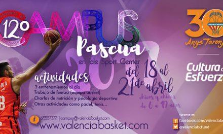 Llega el XII Campus de Pascua de Valencia Basket