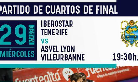 Las entradas para el Iberostar Tenerife-Asvel, también este domingo