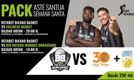 """Pack """"Semana Santa"""" del RETAbet BB: Valencia Basket y Rio Natura desde 25 €"""