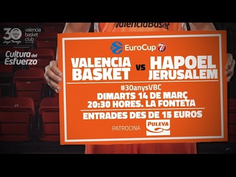 Promo P1 1/2 7DAYS Eurocup: Valencia Basket – Hapoel Jerusalem