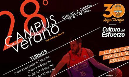 Abierta la inscripción para el 28º Campus de Verano de Valencia Basket
