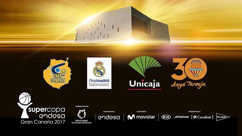 La Supercopa Endesa Gran Canaria 2017 ya conoce a sus cuatro participantes