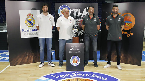 Los protagonistas presentan el Playoff Final de la Liga Endesa 2016-2017