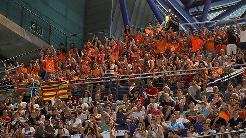 Pamesa Cerámica prepara un espectacular ambiente para el tercer partido