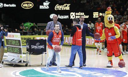 El Triple Solidario de Bankia aporta 31.150€ al baloncesto base de Valencia BC