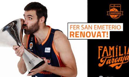 Valencia Basket y Fernando San Emeterio amplían su compromiso hasta 2019