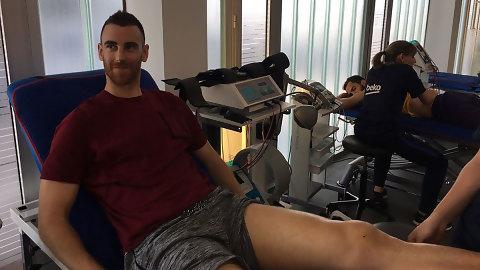 Víctor Claver vuelve a los entrenamientos después de cinco meses de baja