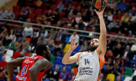 Valencia solo aguanta media parte ante el CSKA de un gran De Colo (94-67)