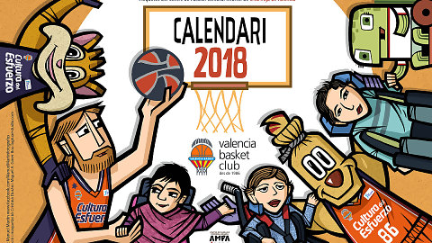 El Calendario 2018 del Valencia Basket y el CPCI Cruz Roja ya tiene portada