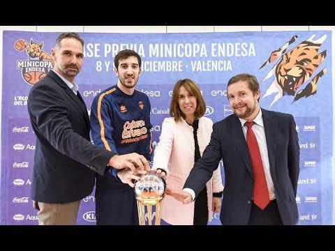 Presentación de la Minicopa Endesa 2017 en L'Alqueria del Basket
