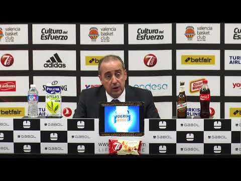 Txus Vidorreta pos J10 Turkish Airlines Euroleague vs Olympiacos
