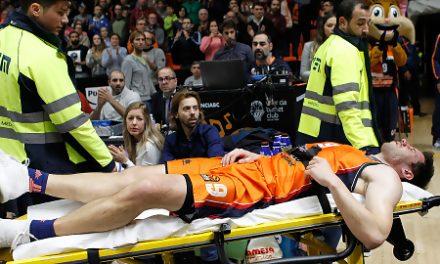 Sam Van Rossom, trasladado al hospital tras sufrir un duro golpe