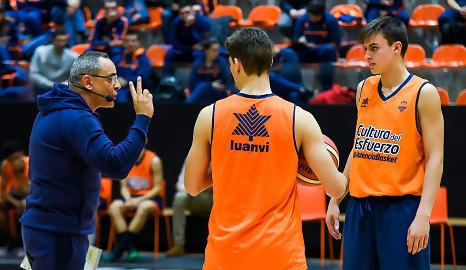 Berni Álvarez y Ángel Cepeda, en la 6ª jornada de formación de entrenadores