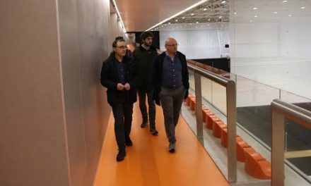 Salvatore Trainotti, GM de Aquila Basket Trento visita L'Alqueria