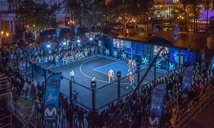 El Movistar Street Basket conquista Valencia con su puesta en escena