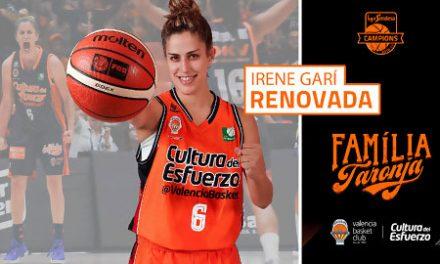 Irene Garí renueva con Valencia Basket