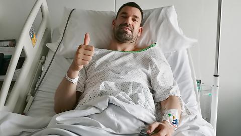 Rafa Martínez, intervenido en la rodilla derecha