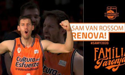 Sam Van Rossom renueva con Valencia Basket hasta 2020