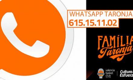 Valencia Basket lanza el servicio de WhatsApp Taronja