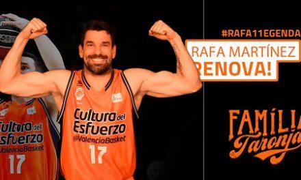 Rafa Martínez renueva por una temporada con el Valencia Basket