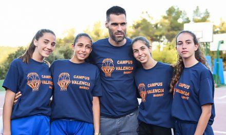 San Emeterio visita el 2º turno del Campus de Verano de Valencia Basket