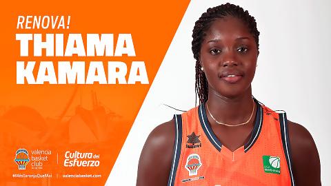Thiama Kamara, dos años más con Valencia Basket