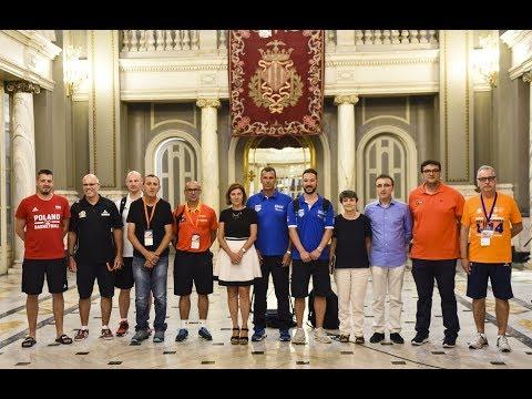 Recepción en el Ayuntamiento de València con motivo del Torneo BAM L'Alqueria del Basket 2018