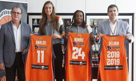 Tamara Abalde y Joy Adams presentadas en L'Alqueria del Basket