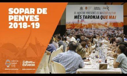 Cena de Peñas 2018-19 en L'Alqueria del Basket