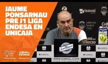 Jaume Ponsarnau pre J1 Liga Endesa en Unicaja