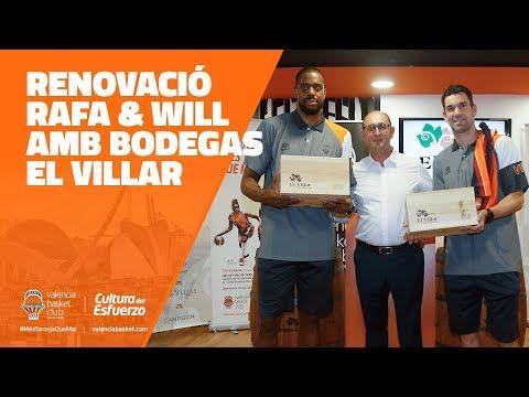 Acto de renovación de Will Thomas y Rafa Martínez con Bodegas El Villar