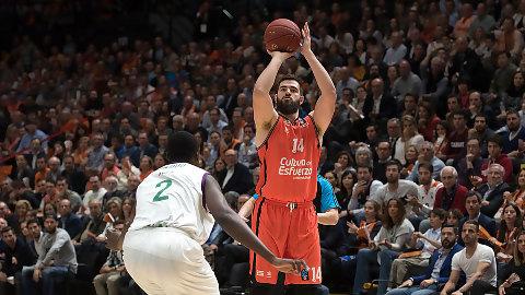 Valencia BC: Dubljevic, 2º con más partidos europeos