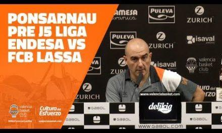 Jaume Ponsarnau pre J5 Liga Endesa vs FCB Lassa