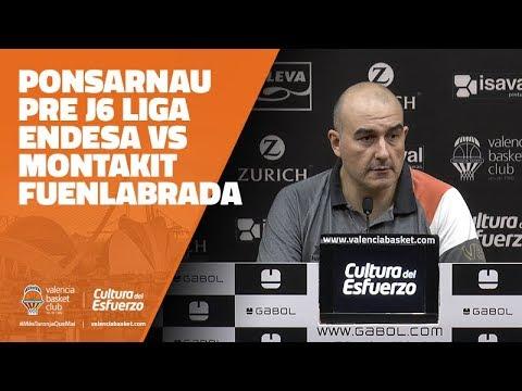 Jaume Ponsarnau pre J6 Liga Endesa vs Montakit Fuenlabrada