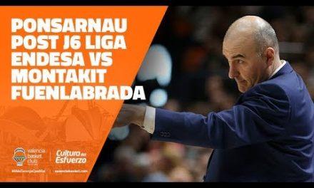 Jaume Ponsarnau post J6 Liga Endesa vs Montakit Fuenlabrada