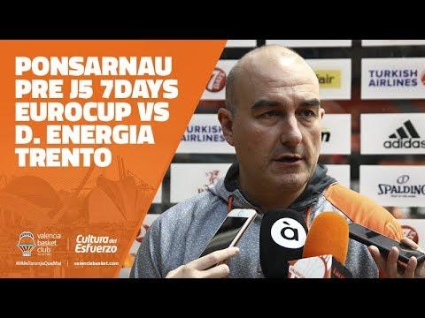 Jaume Ponsarnau pre J5 7DAYS Eurocup vs D. Energia Trento