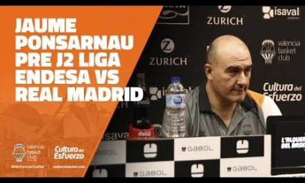 Jaume Ponsarnau pre J2 Liga Endesa vs Real Madrid