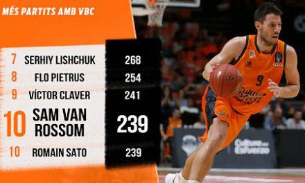 Sam Van Rossom entra en el Top10 de partidos con Valencia Basket