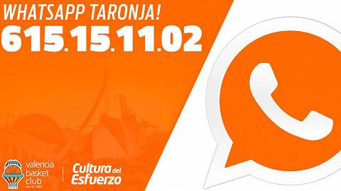 El WhatsApp Taronja sigue creciendo y supera los 4000 suscritos