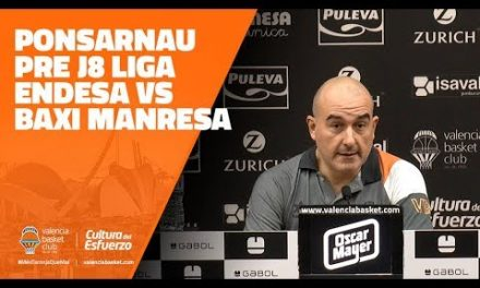 Ponsarnau pre J8 Liga Endesa vs Baxi Manresa