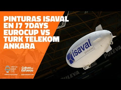 Pinturas Isaval en J7 7DAYS Eurocup vs Turk Telekom Ankara