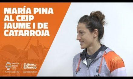 María Pina visita el CEIP Jaume I de Catarroja