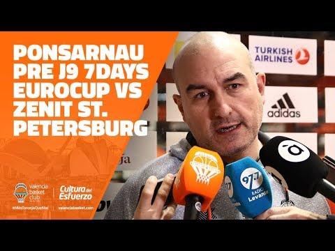 Ponsarnau pre J9 7DAYS Eurocup vs Zenit St. Petersburg