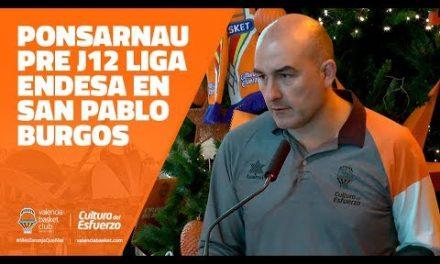 Ponsarnau pre J12 Liga Endesa en San Pablo Burgos